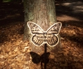 COLD SPRING BUTTERFLY ON A STAKE FOR OUR \PARADISE\ SCATTERING GARDEN